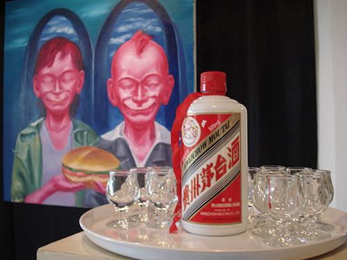 Kunstschilder uit China in kunsthuis De Bakkerij