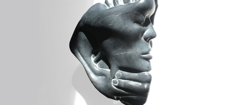 Leonie Tielen steensculptuur De Bakkerij, kunsthuisj
