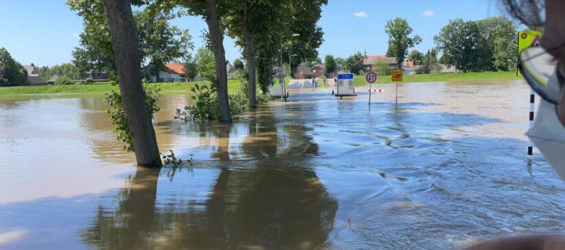 kunsthuis De Bakkerij waterstand Maas 2021